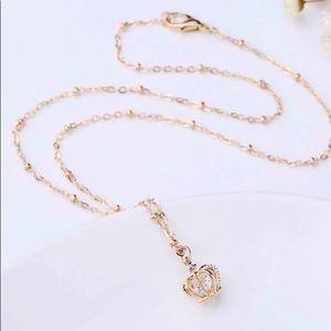 Crown Pendant Necklace